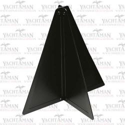 Stożek sygnałowy czarny 470x330mm, znak dzienny