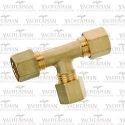Trójnik instalacji gazowej RVS 8 X RVS 8 x RVS 8 Mosiądz