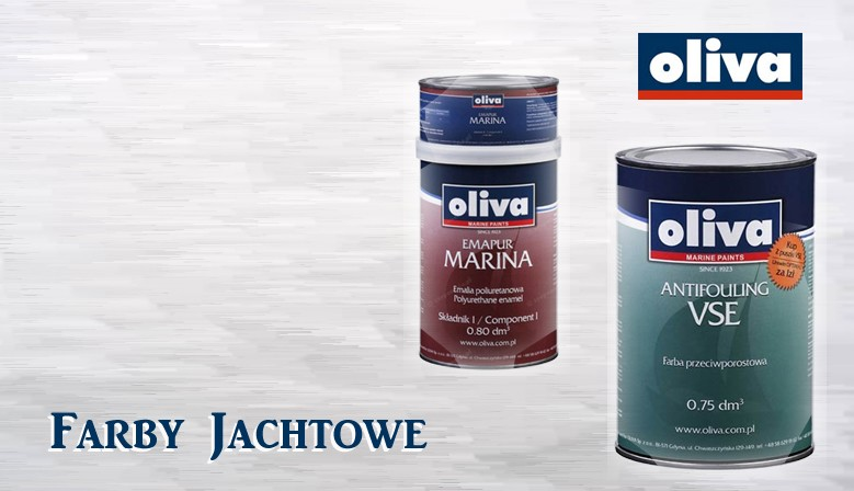 Farby jachtowe: Antifouling, przeciwpoślizgowe, nawierzchniowe, podkładowe, lakiery do drewna, oleje do drewna.