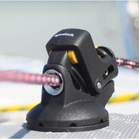 Knga Spinlock PXR 8-10mm Obrotowa podstawa, Stoper liny