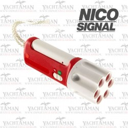 Rakietnica 6-cio strzałowa NICO SIGNAL z Nabojami Czerwonymi Komplet