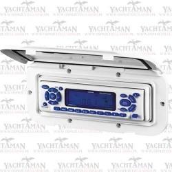 Ramka na radio z zamykaną pokrywą Biała osłona, obudowa z klapką