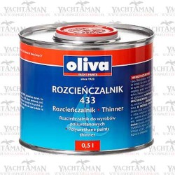 Rozcieńczalnik Oliva 433 do farb i lakierów poliuratanowych - Marina, Teknodur 290
