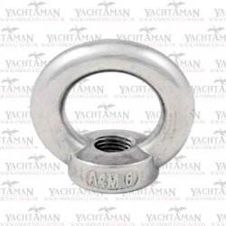 Śruba oczkowa M8x100mm, nierdzewna, A2, sworzeń oczkowy z nakrętką