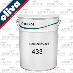 Rozcieńczalnik Oliva 433, 3 litry, do farb i lakierów poliuratanowych - Marina, Teknodur 290