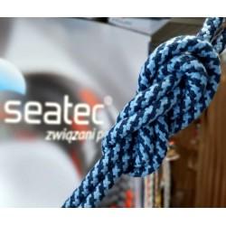 Lina szotowa Caribic 12mm Niebiesko-granatowa Poliester HT Seatec Lina żeglarska z elaną
