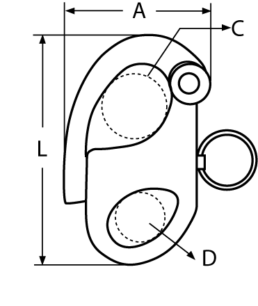 Snapszekla rysunek techniczny