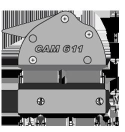 Rysunek techniczny stoper antal cam 611.